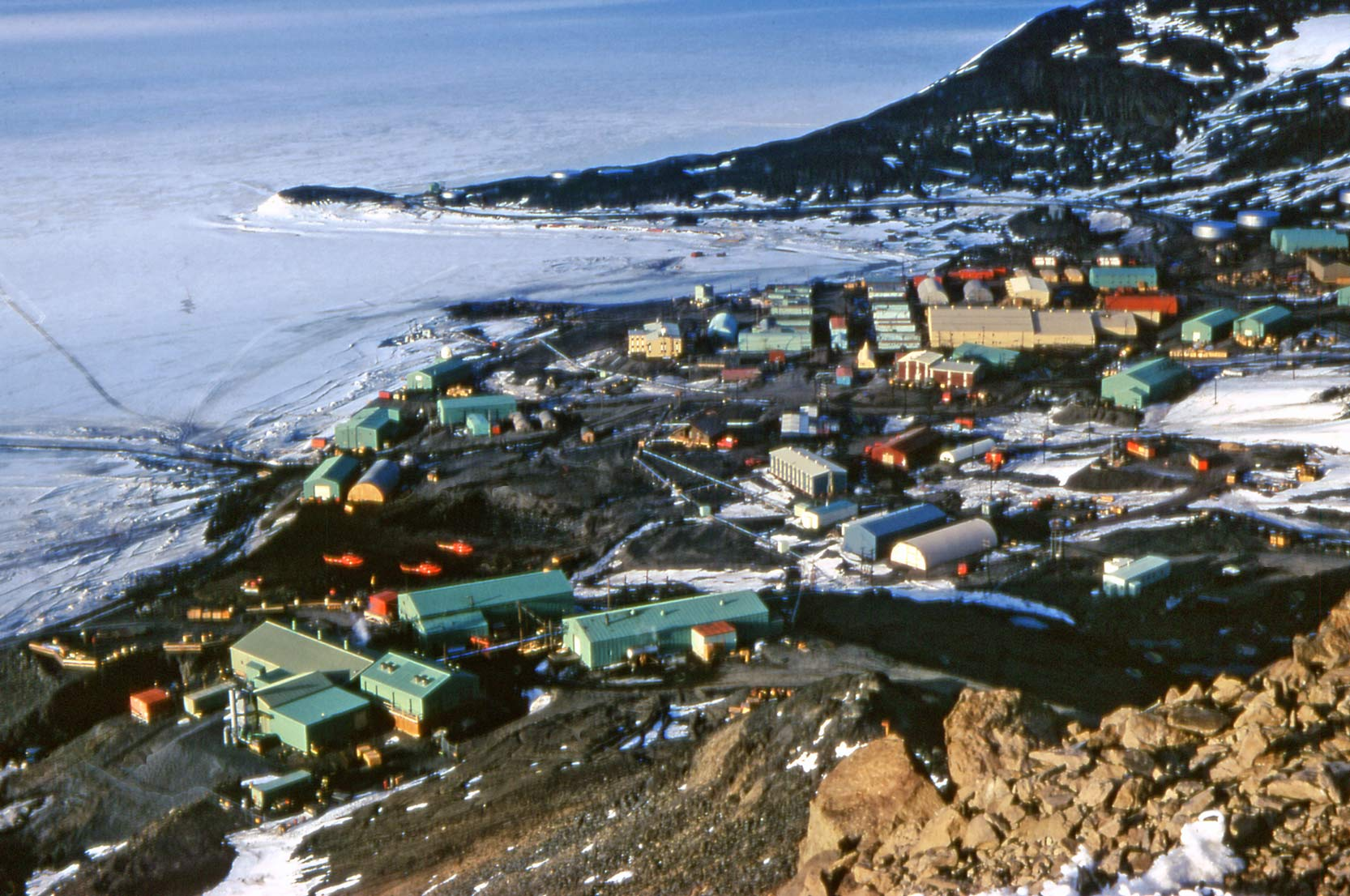McMurdo Station as seen from Observation Hill, December 1972